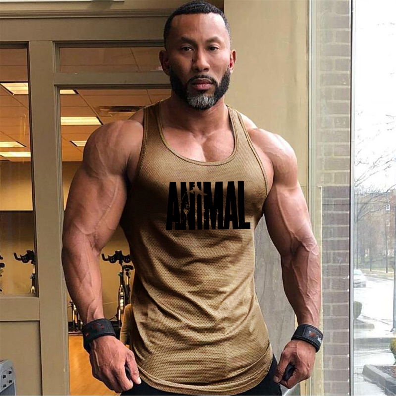 Brand Animal Fitness   Tank     Top   Men Bodybuilding 2019 Gyms Clothing Fitness Men Shirt slim fit Vests Mesh Singlets Muscle   Tops