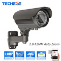 Techege SONY322 2.0MP IP camera wide dynamic CMOS 2.8-12mm AUTO zoom lens Onvif P2P NIght Vision Waterproof Bullet CCTV Camera