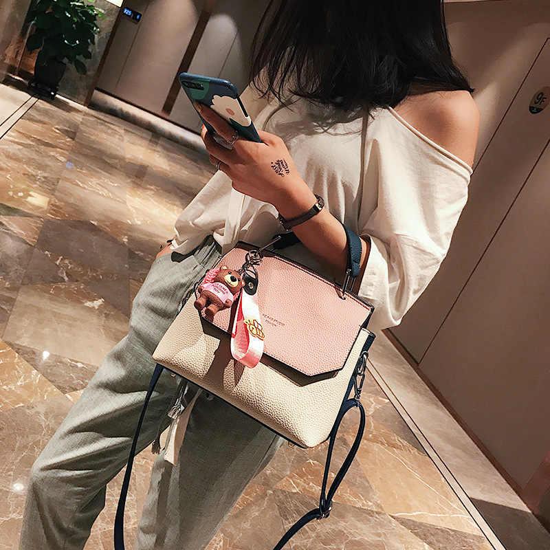 b9c85b67b070 ... 2019 модные милые маленькие Сумки из искусственной кожи женские  знаменитые Брендовые с игрушками сумки через плечо ...