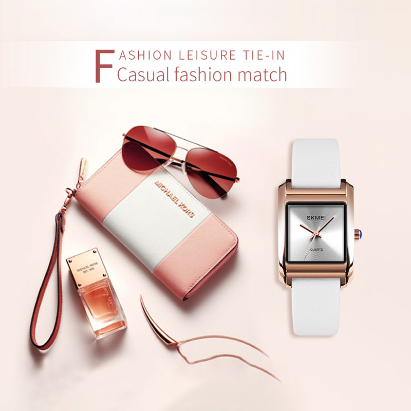 SKMEI Women Watches Genuine Leather Luxury Brand Quartz Female Watch Casual Ladies Hour Clock Montre Femme Relogio Feminino 1432