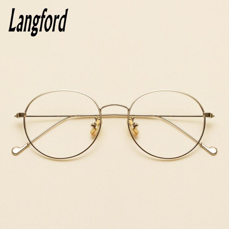 822f3bb054 Langford brand vintage round optical frames big glasses Slim light round  eyeglasses frame gold prescription 2708-in Eyewear Frames from Apparel  Accessories ...