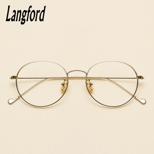 Online Shop Langford brand vintage round optical frames big hipster ...
