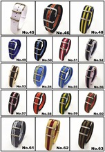 20MM nato straps New colors arrived - 10PCS/lots High quality Nylon Watch band NATO waterproof watch strap 302401