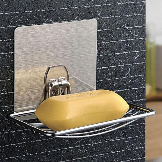 Self Adhesive Metal Soap Dish Storage Holder Bathroom Wall Mount Towel Hooks Soap Organizer Home Storage & Self Adhesive Metal Soap Dish Storage Holder Bathroom Wall Mount ...