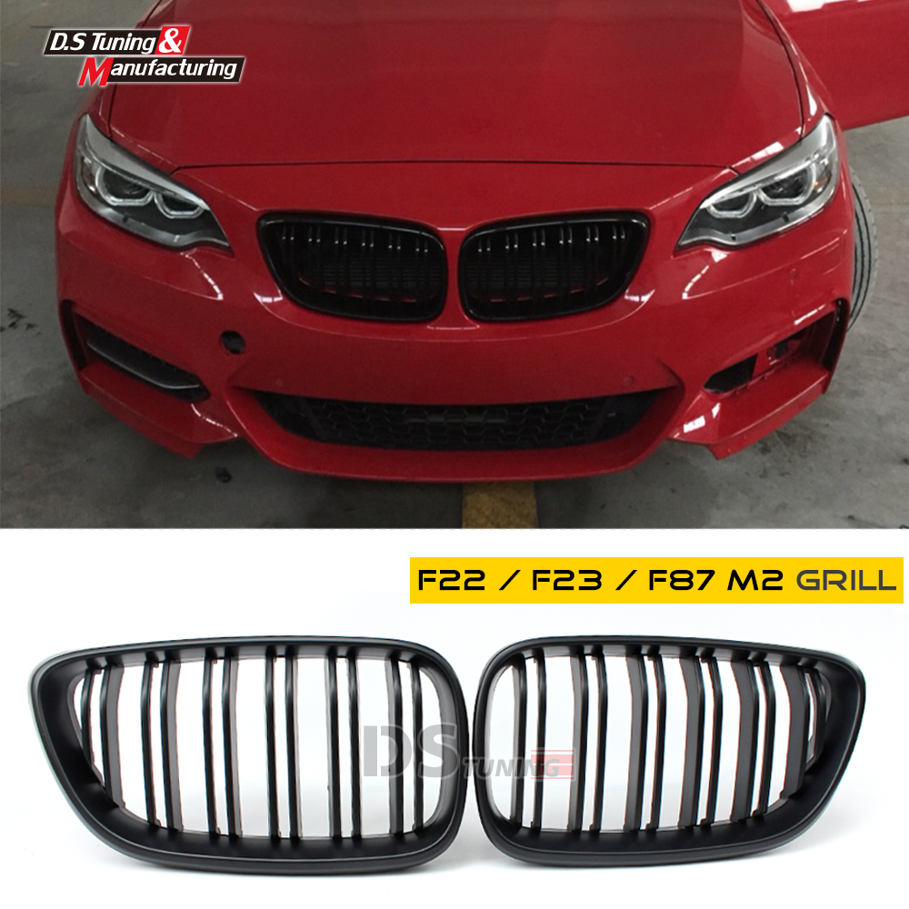 Replacement F22 M2 - Look Racing Grille Front Grills For BMW 2 Series F22 M235i 218i 220i 228i 2 Doors Cabriolet 2014 2015 3 series carbon front bumper racing grill grills for bmw f30 f31 standard sport 12 16 320i 325i 330i 340i non m3 style car cover
