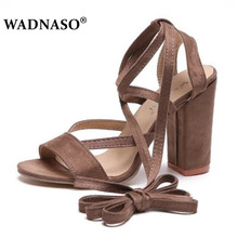 WADNASO New Summer Sandals Women Shoes Pump Thick with Fish Mouth Straps Square Root Sexy Fashion Female