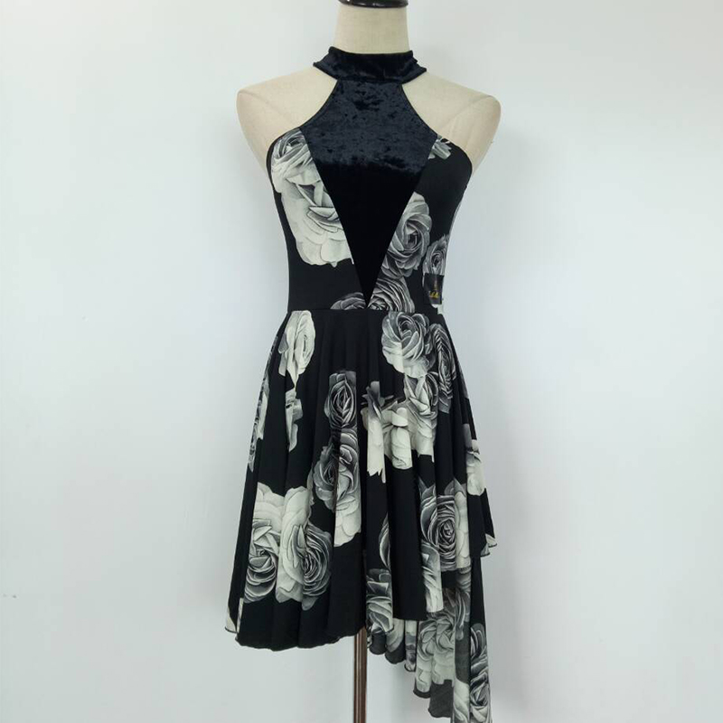2018 Infantile Latin Dance Dress for Ladies Black Competitive Fashion Women Ballroom Rumba Samba Tango New Style Costumes N1062
