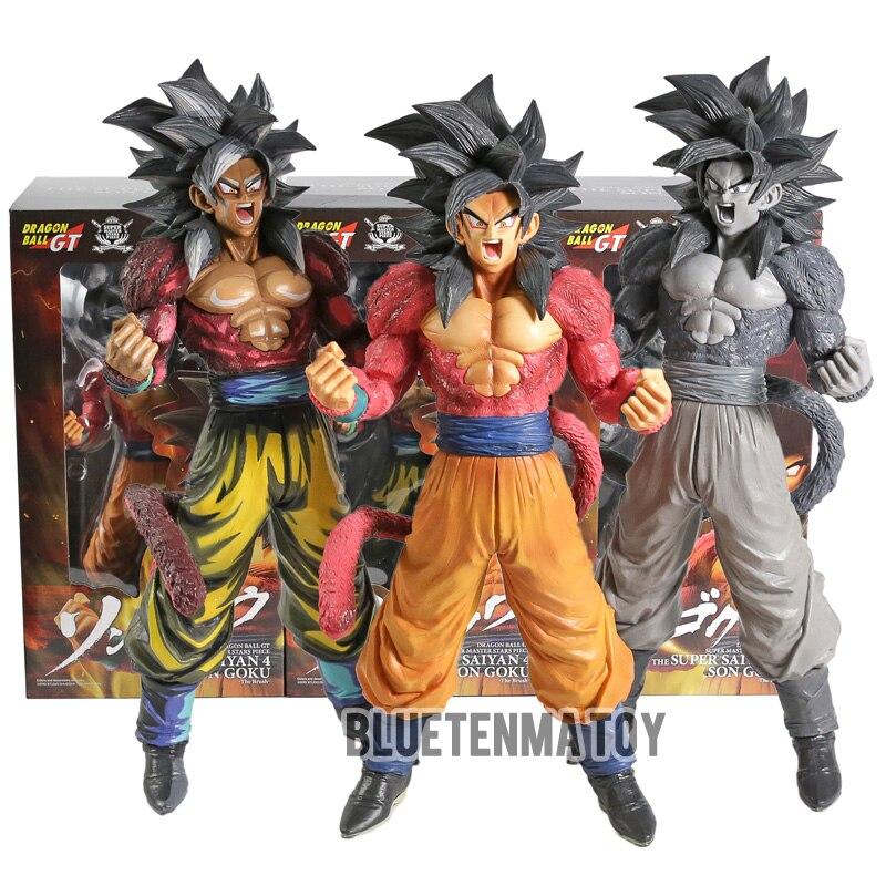 32 cm. DRAGON BALL GT Figura Goku Super Saiyan 4 Master Stars Piece 3 colores