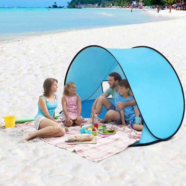 the latest e02b1 2efdd US $19.48 20% OFF|Outdoor Camping Tents Instant Pop Up Tent Baby Beach  Tents Cabana Portable Camping Fishing Hiking Anti UV Sun Shelter-in Tents  from ...