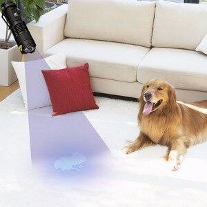 Image 5 - UV Flashlight Ultra Violet Light With Zoom Function Mini UV Black Light Pet Urine Stains Detector Scorpion Use AA/14500 battery