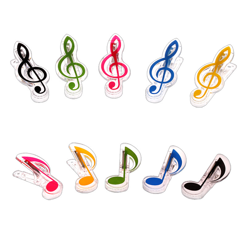 Musical Note Clips Book Page Clips Kawaii Stationery Folder Clip Photos Tickets Notes Letter Paper Clip