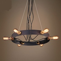 Industrial wind Pendant Lights creative fishing line black theme restaurant living room bedroom coffee shop lamps LU8018