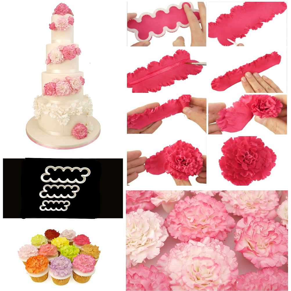 New Sugarcraft Easiest Rose Ever Cutter Carnation Flower Cake ...