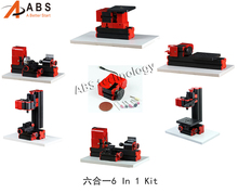 6 in 1 Mini Lathe ,Milling ,Drilling ,Wood Turning ,JigSaw and Sanding Machine,Mini Combined Machine DIY Tool,also for education