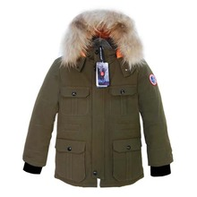 Водонепроницаемый 2017 Новый Дети Толстый Зимний Теплые Cottoon Вниз Куртка с Съемный мех Енота