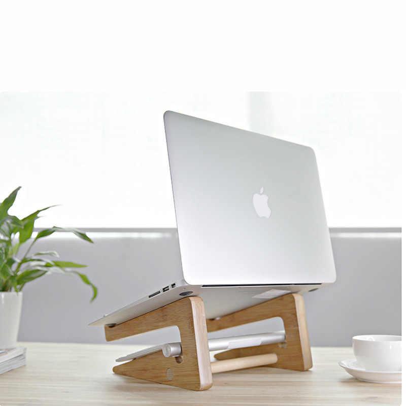 زيادة ارتفاع خشب متين شركة التبريد قوس لماك بوك اير برو الشبكية 11 12 13 15 عمودي قاعدة حامل لباد حامل للكمبيوتر الشخصي