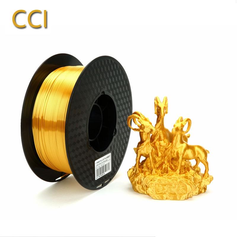 Silk Pla Gold 3d Printer Filament 1.75mm 1kg Silky Shine Golden 3d Pen Shiny Metal Metallic Printing Materials  Rich Luster CCI