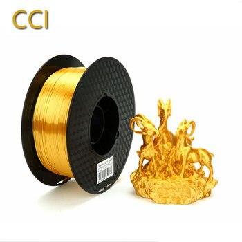 Silk pla gold 3d принтер нить 1,75 мм 1 кг шелковистая блестящая золотая 3d Ручка блестящая металлическая печать материалы богатый блеск CCI