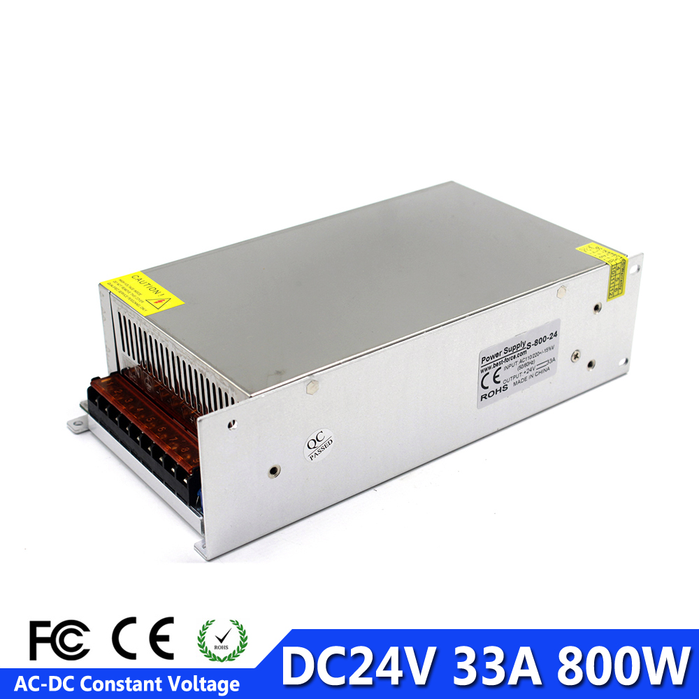 Single Output 24v Dc Power Supply Switching 33a 800w Led Driver Schematic Diagram Of 24vdc Images Block For Strip Lamp Cnc Ac110v 220v To Dc24v Smps In From