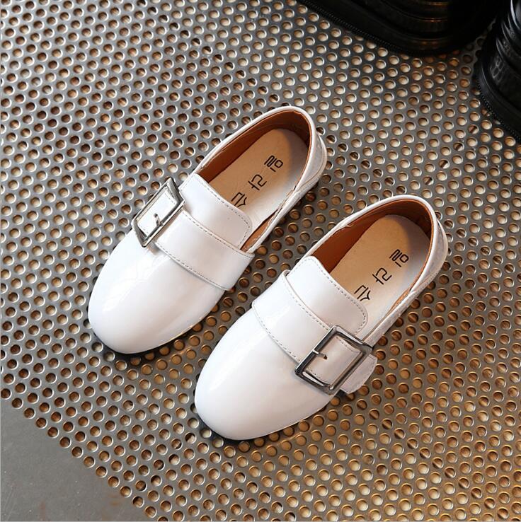 2017 Nuevo Niños formal Zapatos de cuero para bodas estilo Inglaterra niños vestido de cuero Zapatos Niños brogue boda Zapatos