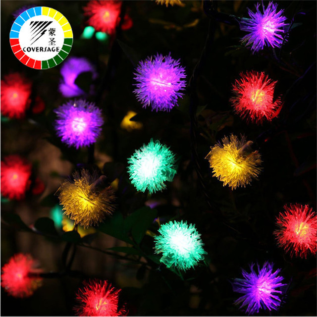 coversage 20 leds solar lights garden christmas tree xmas garlad decoration outdoor waterproof holiday lighting fairy