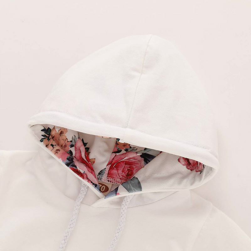 Floral Baby Girl Clothes Set Autumn Newborn Clothes Long Sleeve Flower Hoodies Pants Headband Toddler Infant Outfit Set D30 in Clothing Sets from Mother Kids