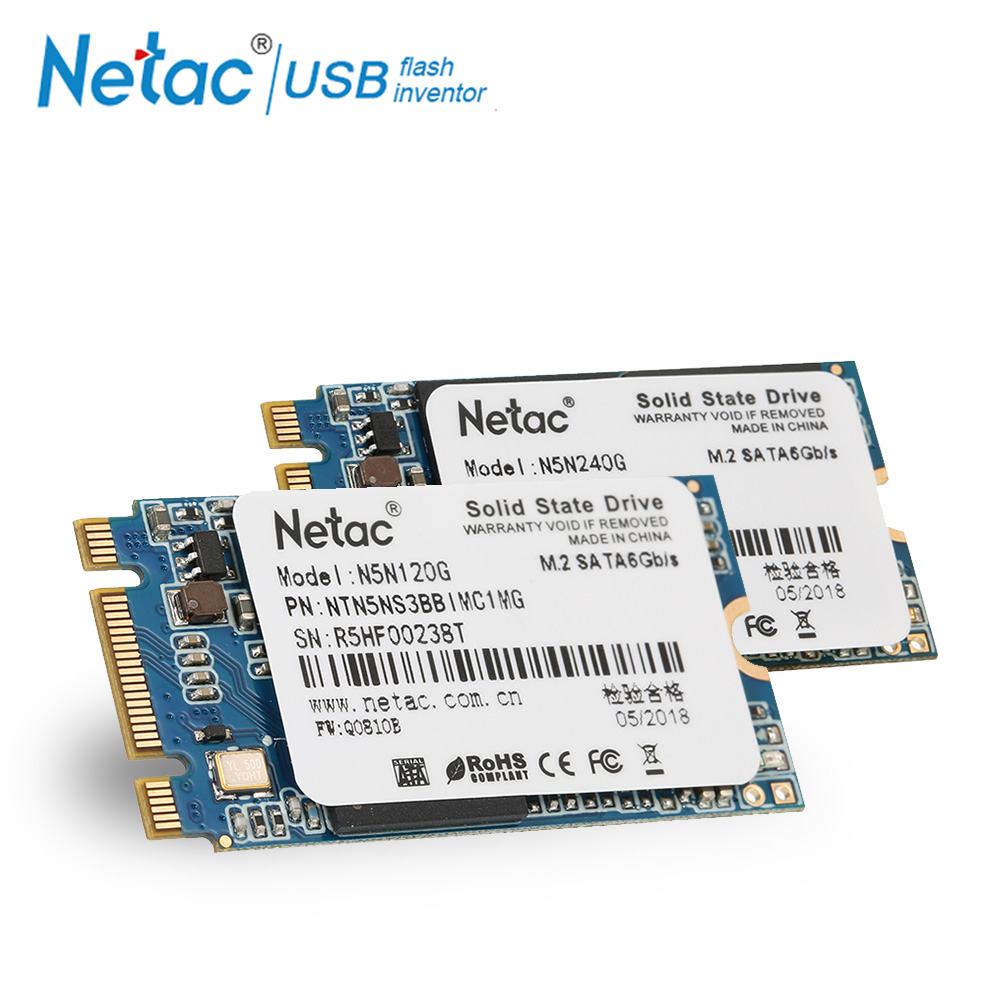 Netac M.2 2242 MLC 522MB/s Read Speed SSD Hard Drive 240GB 120GB SSD M2 240 GB 120 GB Internal Solid State Drive For Computer PC