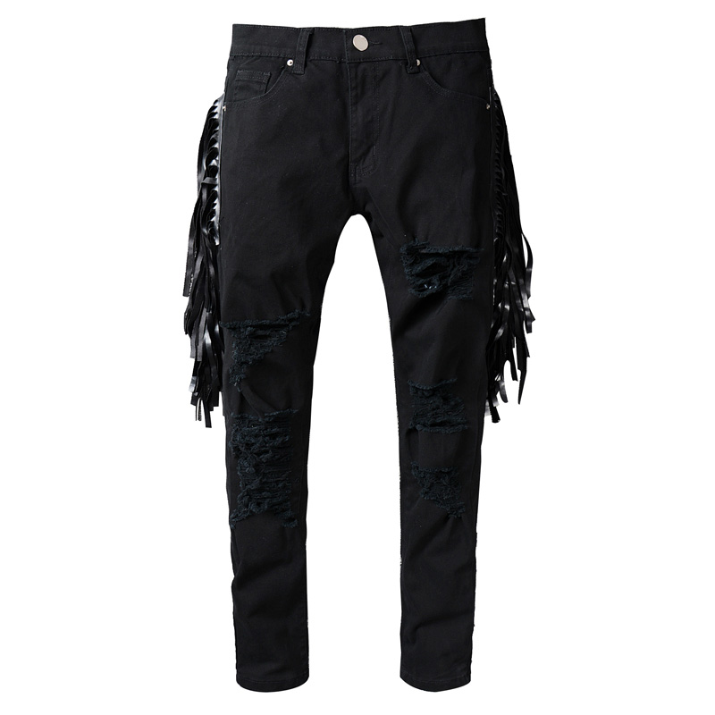 Hi-Q Brand 2017 New spring and summer new high-quality cotton jeans , fashion Straight jeans males Hip-hop pants kcae 2017 brand spring and summer new