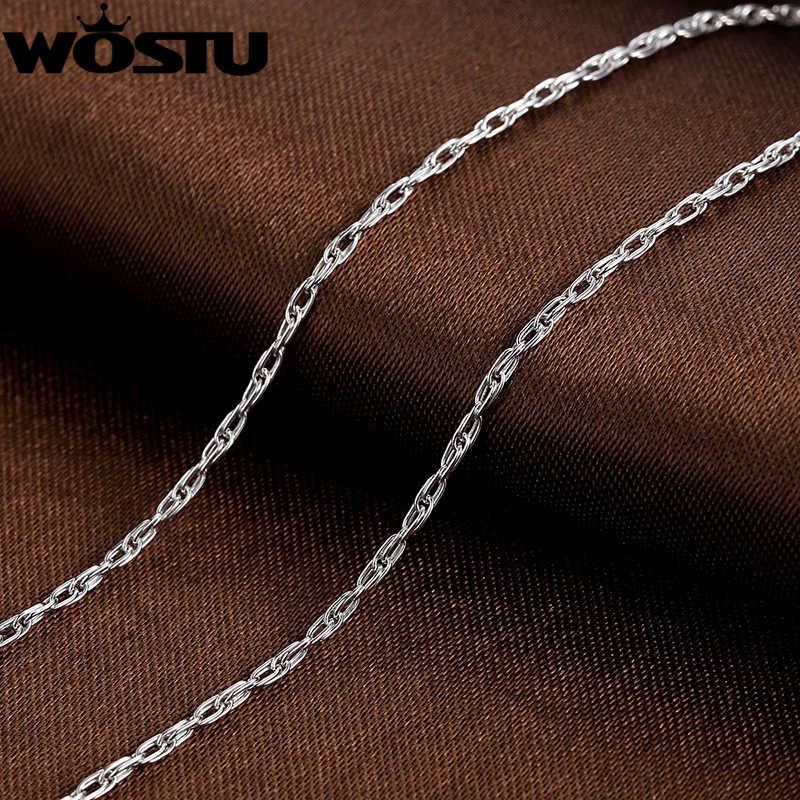 Oryginalne 100% 925 Sterling srebrne łańcuszki naszyjniki nadające się do wisiorek urok dla kobiet mężczyzn luksusowe S925 biżuteria prezent SCA002