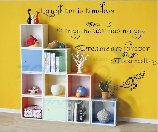 Laughter Is Timeless home decor creativewall decal ZooYoo8115 decorative adesivo de parede removable vinyl wall sticker