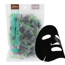 Facial Mask Paper Natural Bamboo Charcoal Fiber Mask Paper Skin Face Care DIY Cloth Mask Cotton Mask 40Pcs