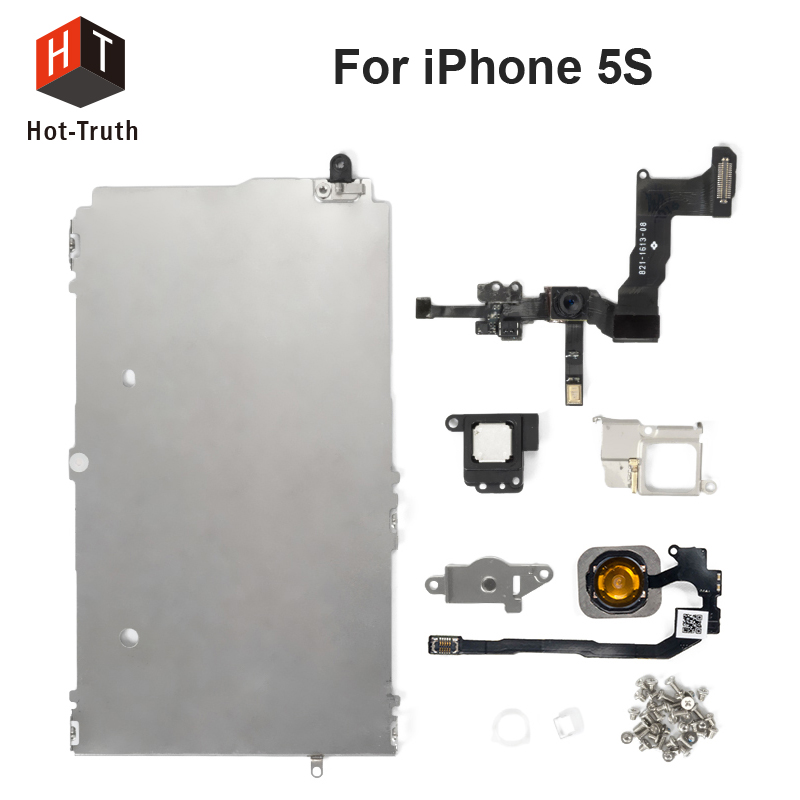 Hot-Truth Complete LCD Repair Parts For iPhone 5S Screen Digitizer Metal Bracket Front Camera Ear Speaker Plate+Home Button