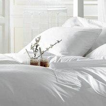 100% エジプト綿 1000 TC 王クイーン白色シート布団カバー枕カバー 4 個のカスタマイズ設定
