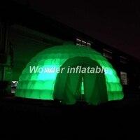 2017 самая популярная светодиодное освещение надувные иглу палатка большой белый надувной воздушный шатер куполообразной палатки для событ