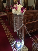 110cm fashion luxury acrylic crystal wedding road lead table center pieces event party decoration/ wedding backdrop T- stand