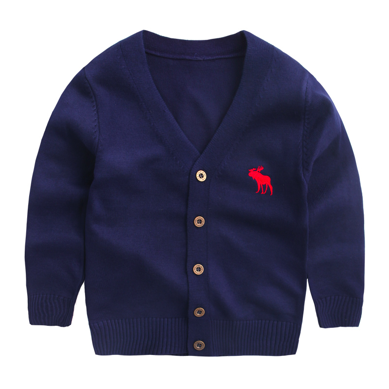 Baby Boys Sweater Cardigan 2017 New Spring Cotton Clothing High Quality Knitted Jacket Fashion Sweater Coat Little Girls Clothes