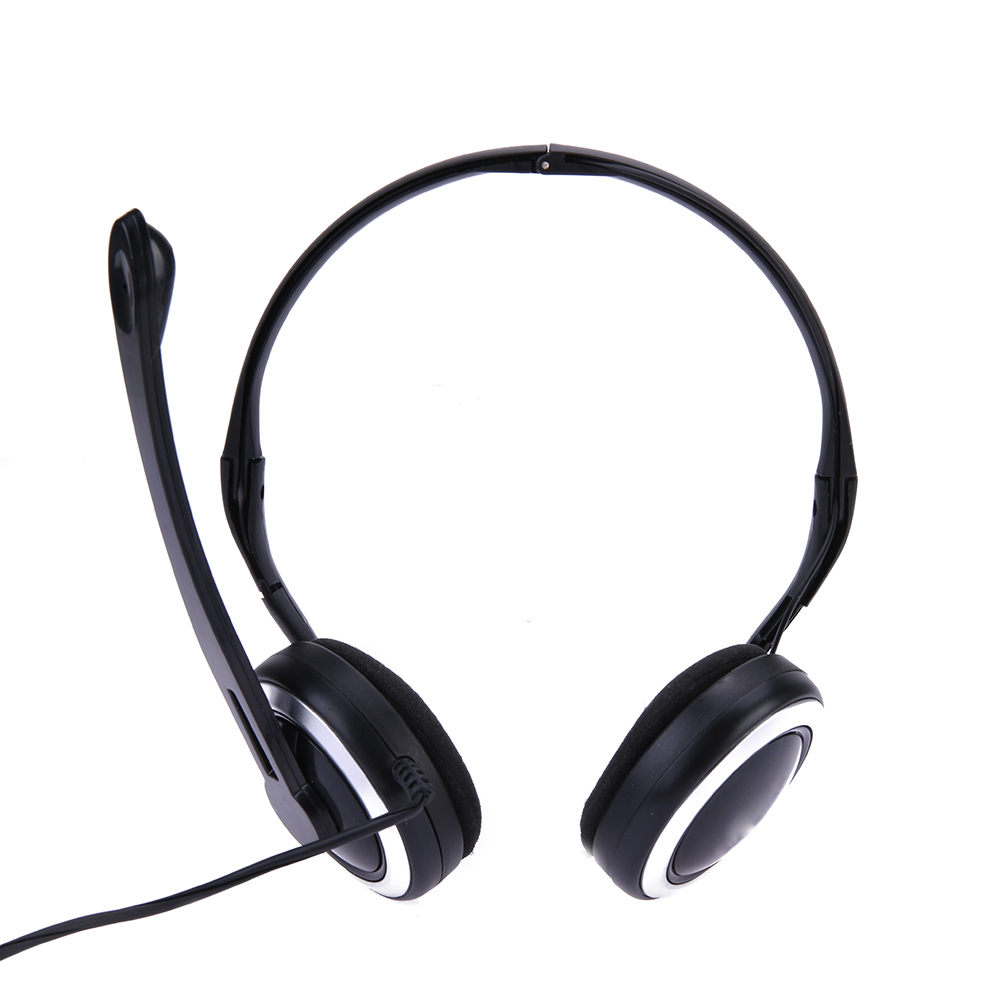 Headband Headphone Behind The Ear Headphones Line Control Folding Ear Clips for MP3 PC Phone Portable Foldable Wired Headset