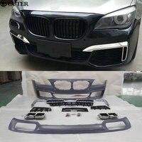 F02 M760 PP Комплект кузова автомобиля переднего бампера для заднего бампера боковые юбки для BMW F02 7 серии 740 745 760 09 15