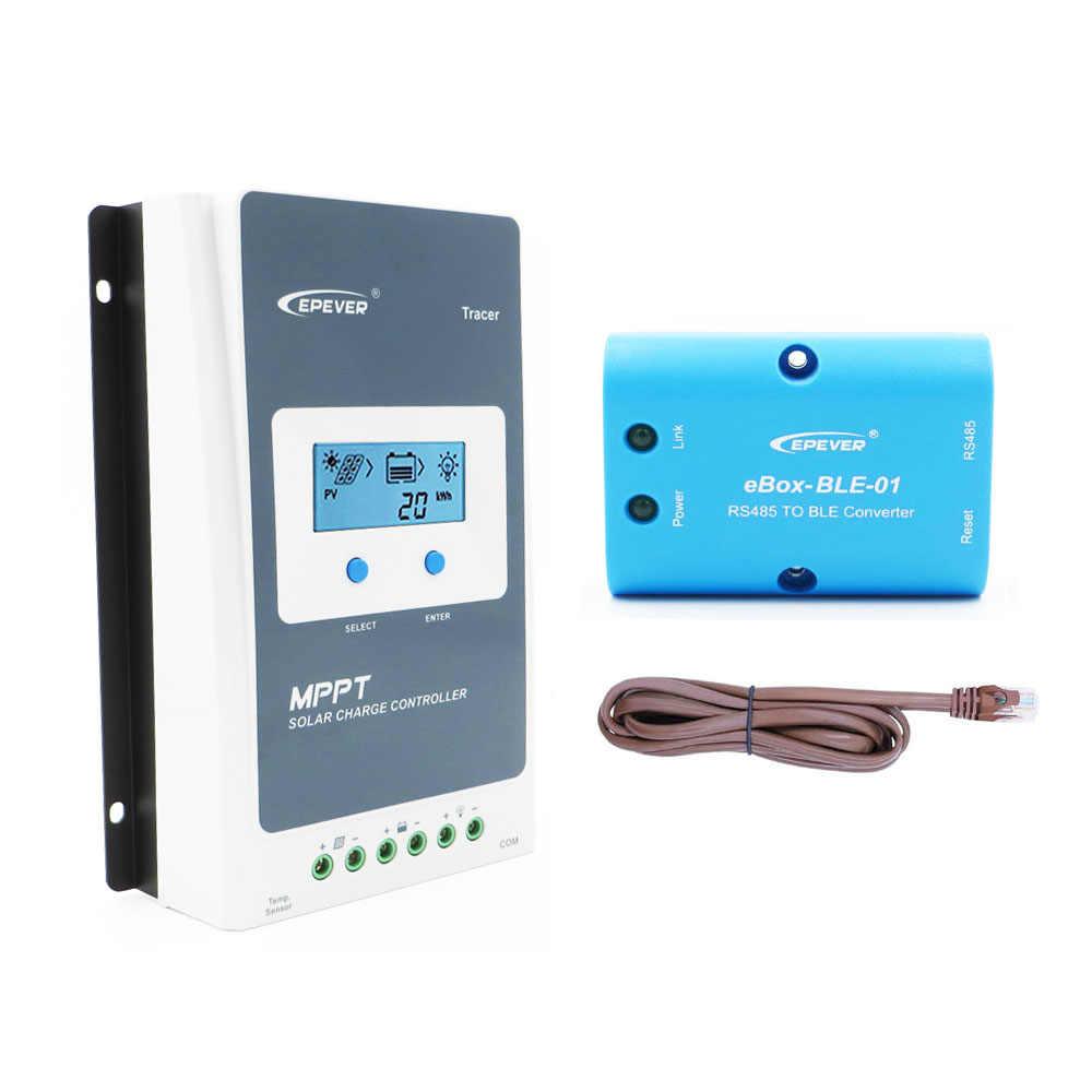 Tracer 3210AN 30A 12V 24V MPPT שמש תשלום בקר Bluetooth טלפון נייד APP eBox-BLE-01 ליתיום li LiFePO4 סוללה 3210A