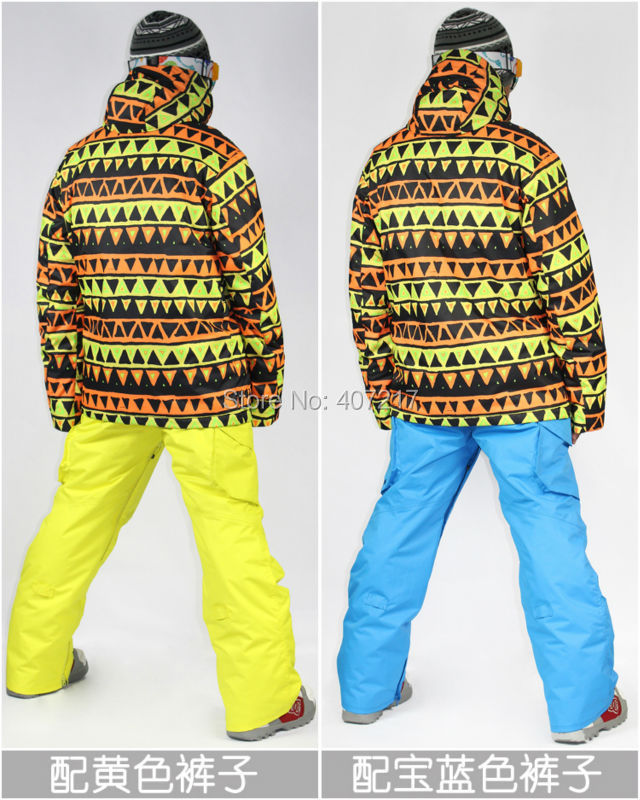 2014 mens geometric ski jacket yellow and black triangle snowboarding  jacket men skiwear snow jacket waterproof breathable warm-in Skiing Jackets  from ... 810d937de