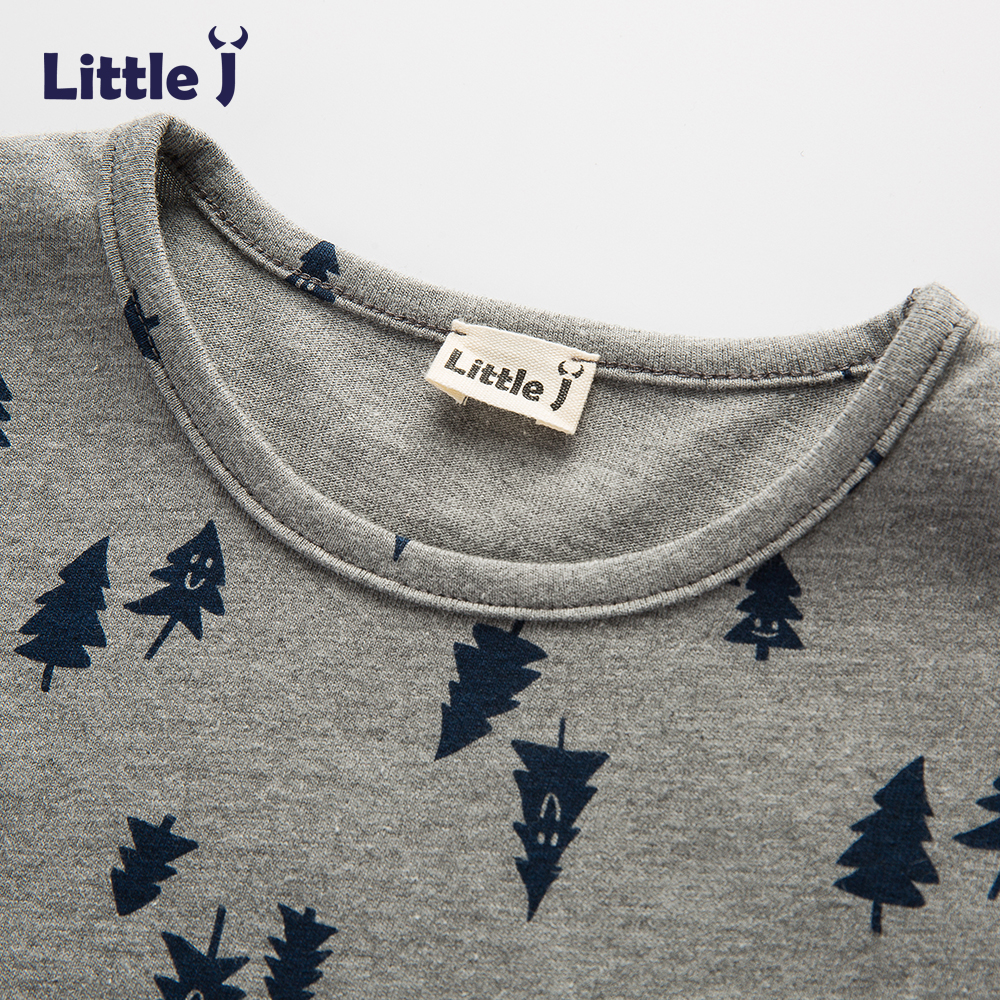 Little-J-Boys-Gray-Tree-Cotton-T-Shirt-Kids-Brand-Design-Cartoon-T-shirts-Brother-Baby-Boy-Short-Sleeve-O-neck-Top-Clothing-2