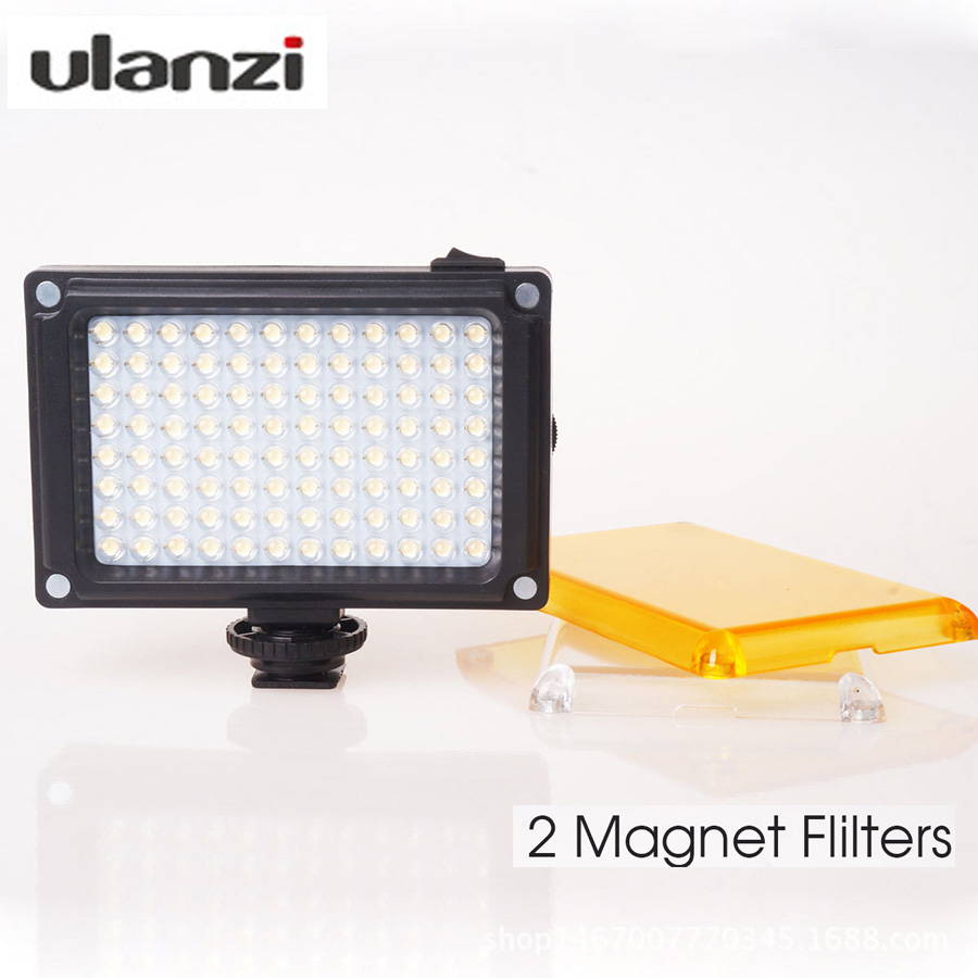 Ulanzi Mini LED Video Licht Foto Beleuchtung auf Kamera Heißer schuh Dimmbare LED Lampe für Canon Nikon Sony Camcorder DV DSLR Youtube