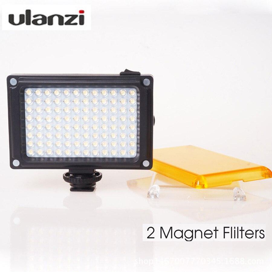 Ulanzi Mini LED Video Light Photo Lighting on Camera Hot shoe Dimmable LED Lamp for Canon Nikon Sony Camcorder DV DSLR Youtube