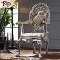 Mão esculpida mobiliário de casa-madeira maciça realeza jantar poltrona Frete grátis