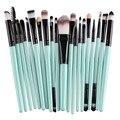 Pro 20 Unids/set Maquillaje Pinceles Set Powder Blush Fundación Sombra de Ojos Delineador de Labios Cosmética Kits de Herramientas de Belleza 2016 Nuevo