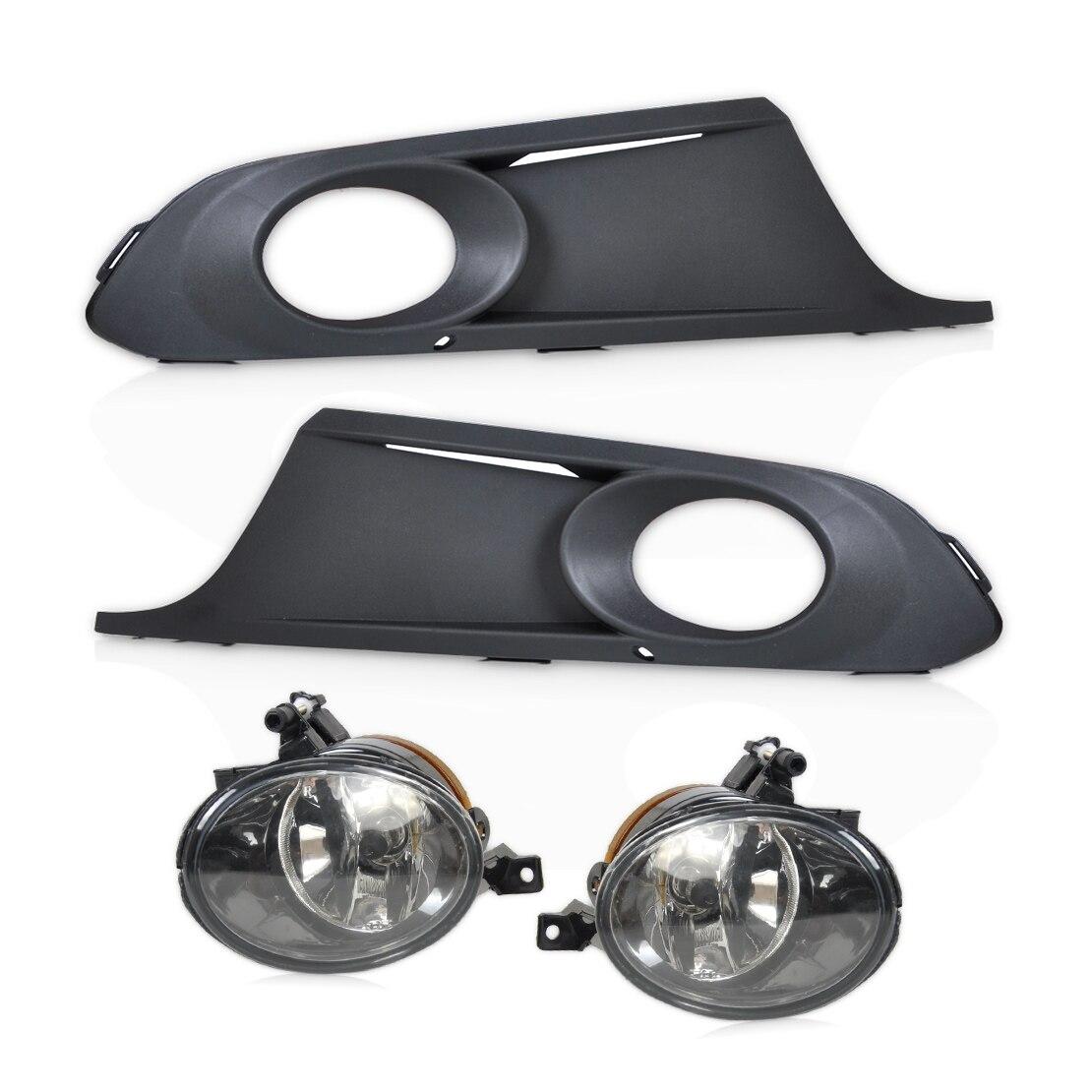 beler New 2Pcs Front Bumper Lower Fog Light Grille + Lamps Kit 5KD 941 699, 5KD 941 700 for VW Jetta MK6 2011 2012 2013 2014 front fog light assembly for vw jetta mk5 1t0 941 699 d