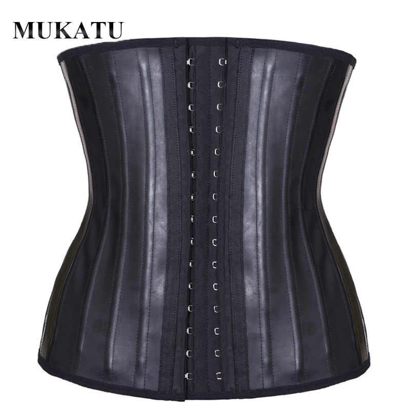 Corsé moldeador de cintura de látex MUKATU, faja moldeadora de cuerpo, 25 tiras de acero, faja moldeadora de cintura, fajas colombianas