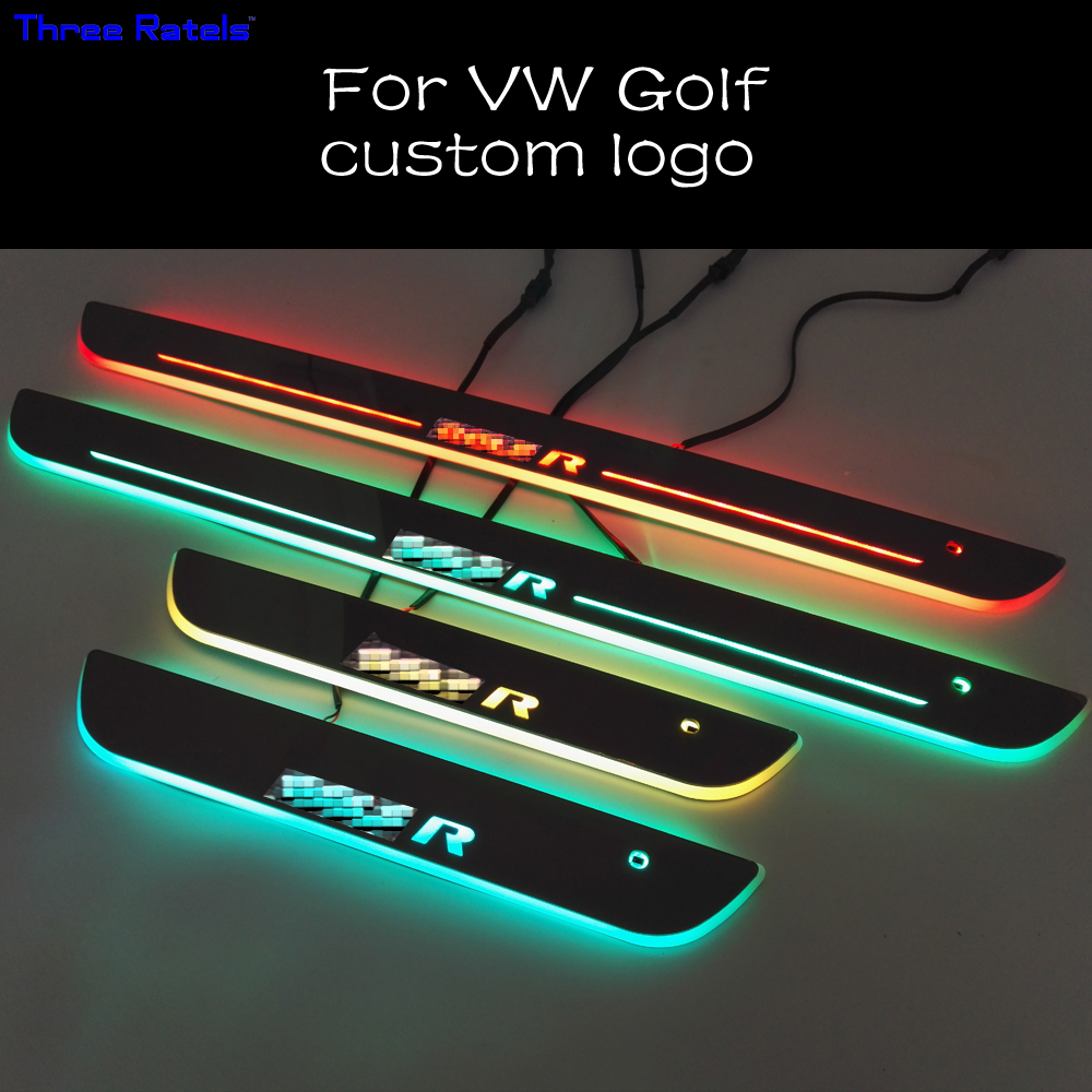 Aliexpress Com Buy For Vw Golf Led Door Sill Scuff Plate