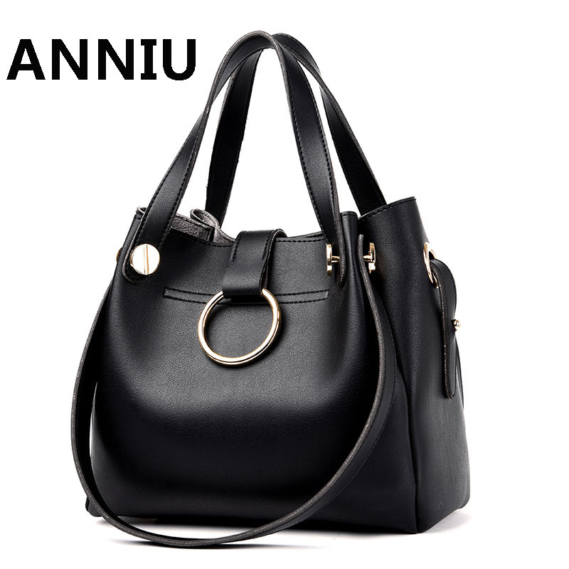ANNIU Brand 2017 New Fashion Women handbag designer high quality leather office lady shoulder bag female Casual Tote women genuine leather handbag fashion trend shoulder bag office lady tot high quality designer luxury brand boston crossbody bag
