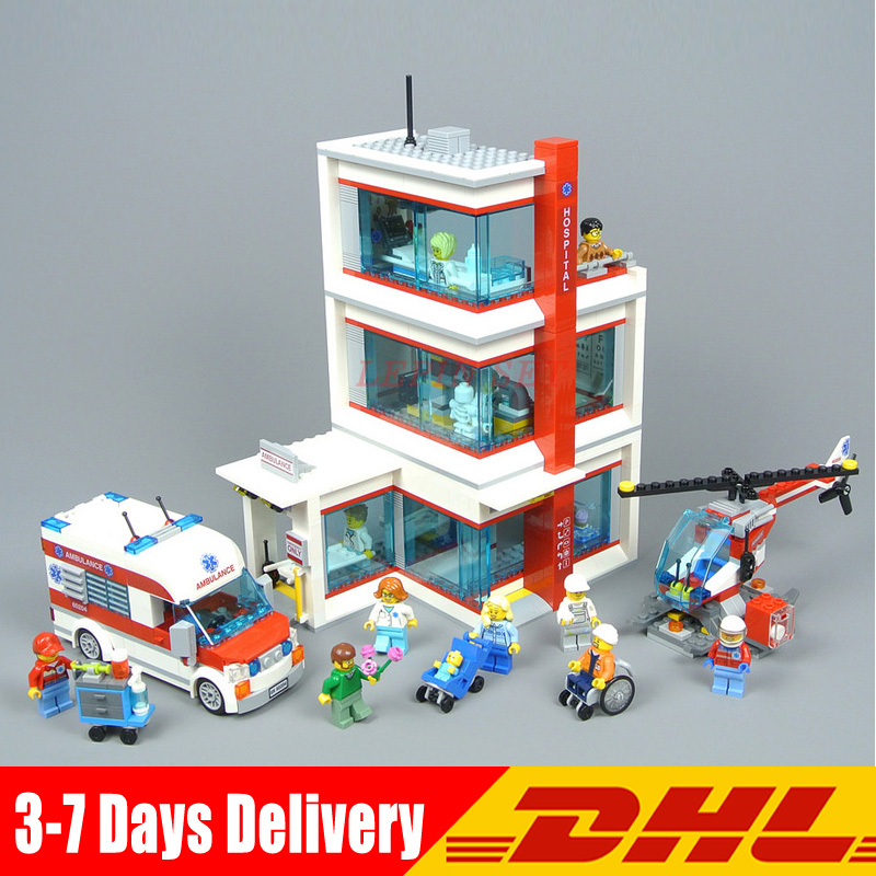 2018 New Lepin 02113 964 Pcs City Hospital Sets Compatible legoINGLY 60204 Building Blocks Bricks DIY Model Kits Boy Toys Gift